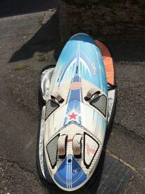 Windsurf board Tabou Rocket 125 freeride.