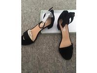 Essex black suede sandals