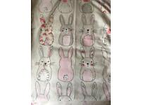 Girls duvet cover and pillow case, Katie Rabbit
