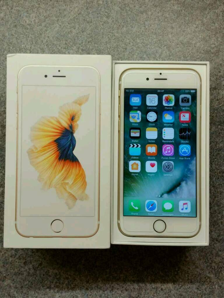 IPhone 6s 64gb Gold Unlocked Very good conditionin NewportGumtree - IPhone 6s 64gb White/Gold Unlocked to all networks.Phone in very good condition and all works perfectly.Phone around 9 months old and still on Apple warranty. Boxed with charger, leading cable,unused earphones and case.Apple warranty till 27th June...