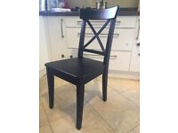 Chairs Hard Wood - Black / Brown - IKEA INGOLF (have matching dinning table sold separately)
