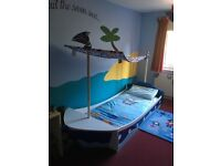 Child's pirate bed plus rug and lamp shade