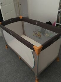 Travel cot and folding mattress - As new