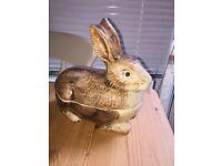 Vintage French rabbit 🐇 pate dish lidded