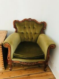Louis chair French old beautiful statement piece