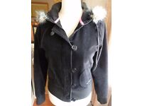 PINEAPPLE black short corduroy jacket with zip and buttons