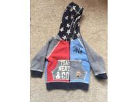 Boys Next zip up hoodie 12-18 months