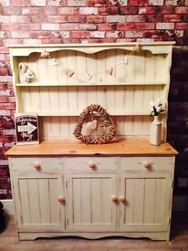 ANNIE SLOAN LARGE COUNTRY FARMHOUSE CREAM SOLID PINE DRESSER