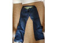 Hood kevlar motorcycle jeans.
