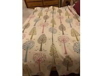 Pair of John Lewis made to measure pencil pleat, lined, blackout beautiful girl bedroom curtains
