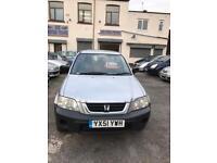 Honda CR-V 2 litre petrol 5 doors hatchback estate 5 seater family car low milage 2001 51 plate