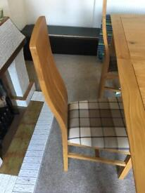 Extending dining room table & 4 chairs