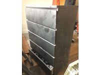 Black Ikea Malm 6 Drawer Unit - Good Condition just dusty