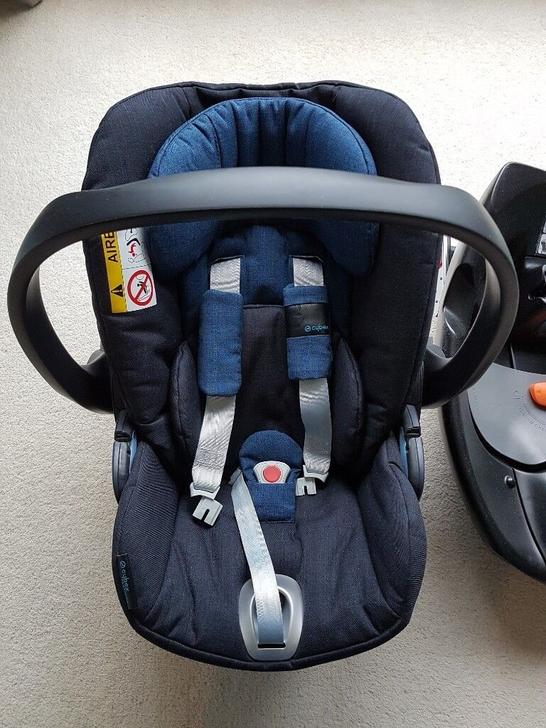 CYBEX Cloud Q Plus Reclining Newborn Baby Child Car Seat Navy Blue With Isofix