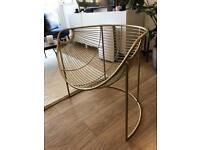 Gold statement chair