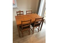 Dining Table x4 chairs - Ikea