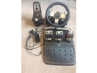 Logitech G27 Wheel, Pedals and Shifter for PC and PS3