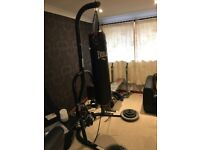 Home gym: punch bag + stand + bench press + weights + extras