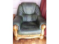Three-Piece Suite - Sofa, Two Armchairs and Footstool