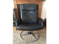 Black swivel, reclining chair