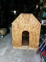 WOODEN DOG HOUSE NEEDS TO GO