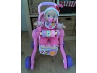 vtech 3in1 pushchair/cot/feeding chair and interactive doll