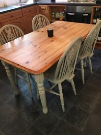 Kitchen table and chairs with matching sideboard
