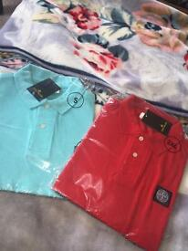 Men's polo tops, £10 each