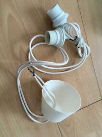 Lightning IKEA double cord set HEMMA (1.8m/E27)