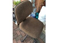 Brown fabric adjustable swivel office chair