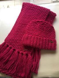 Michael Kors Matching Pink Hat & Scarf Set