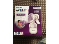 Brand new avent natural breast pump