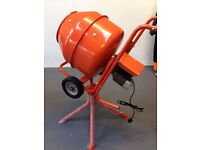 NEW ELECTRIC 240V/110V, 1/2 BAG CEMENT MIXERS , HD GEARBOX DRIVEN ,BALLYNAHINCH.FREE NI DEL