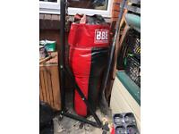 BBE boxing heavy bag and bracket