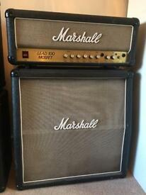 Marshall Lead100 with matching 4x10 cabinet