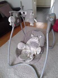 Baby Swing with newborn insert and detachable tray