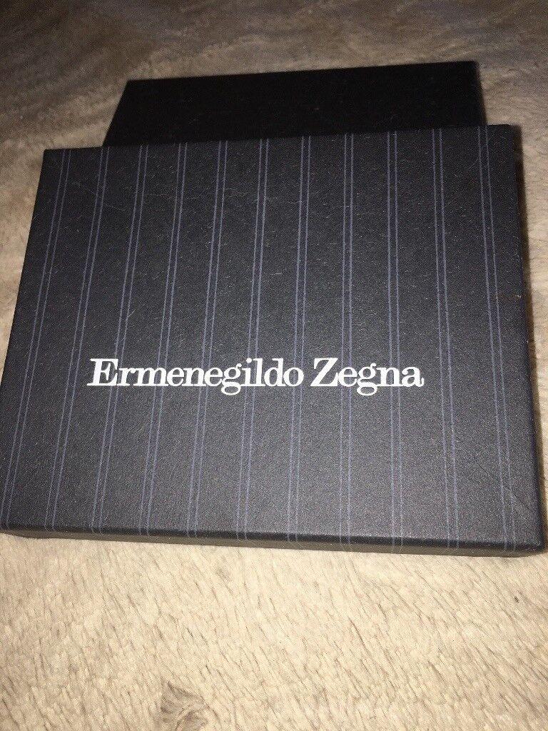 Brand New Designer Ermenegildo Zegna Calf leather billfold wallet