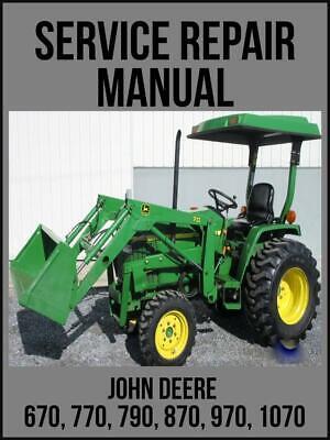 John Deere 670 770 790 870 970 1070 Utility Tractor Service Manual Tm1470 Usb