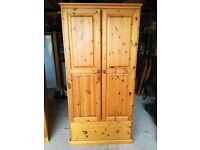 soild pine double wardrobe tongue and groove dovetail joints