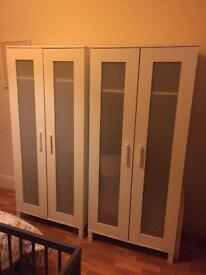Two IKEA Aneboda wardrobes