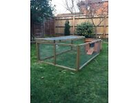 Small Rabbit guinea pig hutch and run