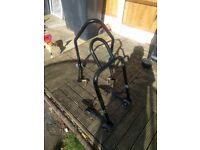Oxford Big Black Bike Paddock Stand Front and Rear