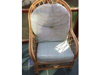 3 Wicker Chairs for sale