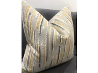 X2 Cushions - Pair of matching - feather filled