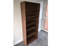 Dark Wood Effect Bookcase