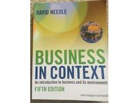 Business in Context student textbook