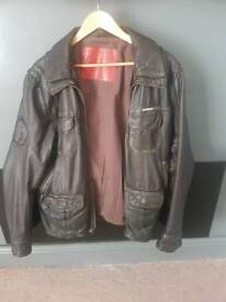 Mens Superdry leather jacket