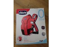 CHICCO GO BABY CARRIER FROM BIRTH 0+ EASY TO USE, BOXED, BLACK