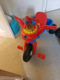 Spiderman Sing Along bike with light and many melodies