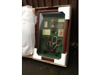 Large brand new The History of the Tennis Racket shadow box / deep memorabilia picture